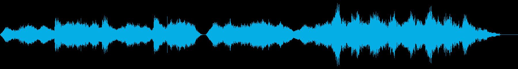 不気味で独特なリズムのメロディーの再生済みの波形