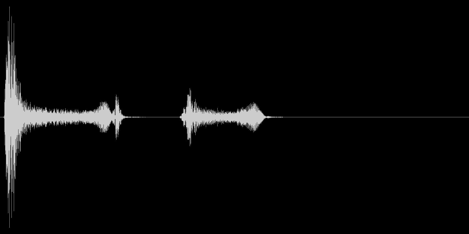 咳 ゴホッゴホッ2の未再生の波形