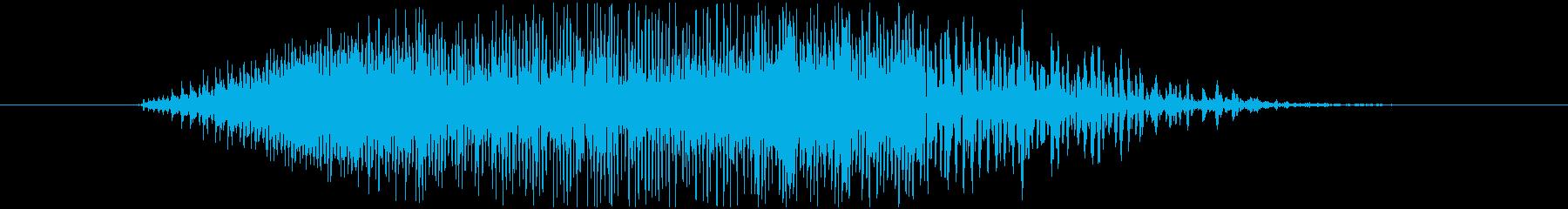 鳴き声 男性戦闘攻撃ロング15の再生済みの波形