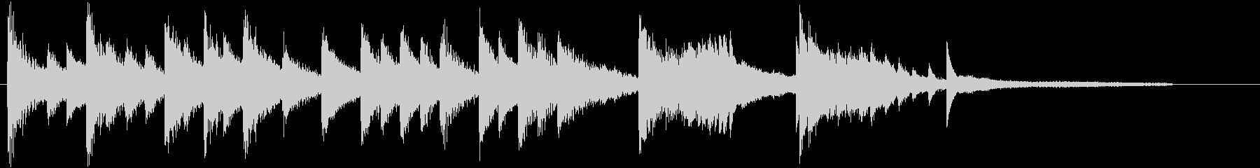 童謡・虫のこえモチーフのピアノジングルBの未再生の波形
