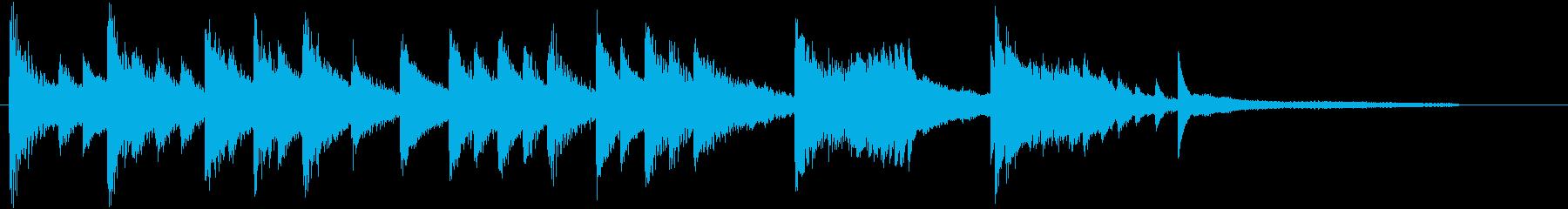 童謡・虫のこえモチーフのピアノジングルBの再生済みの波形