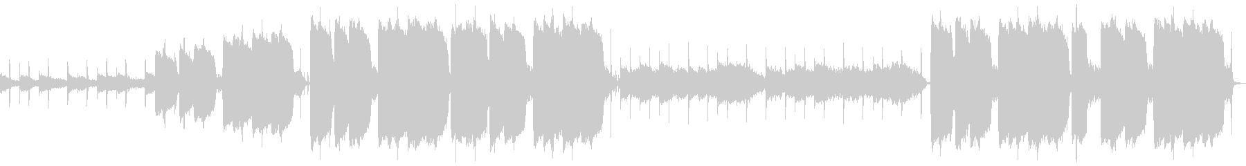 メロウなピアノのヒップホップの未再生の波形