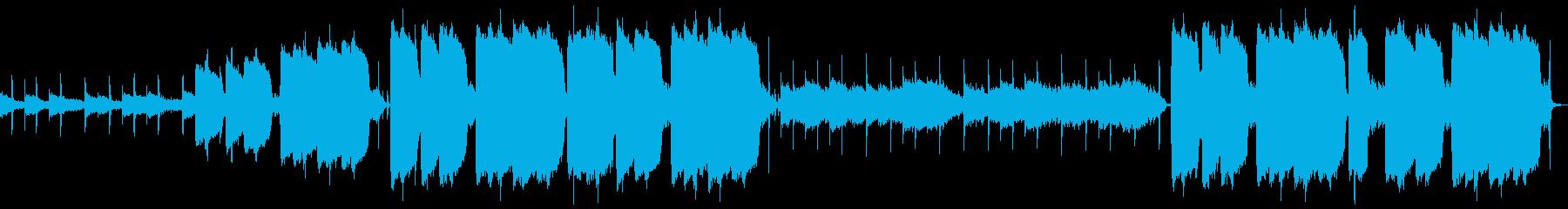 メロウなピアノのヒップホップの再生済みの波形