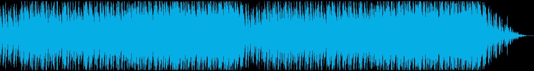 宇宙ぽいシューティング向けBGMの再生済みの波形