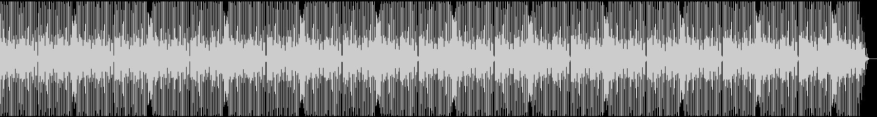 軽快で単純なテクノサウンドの未再生の波形