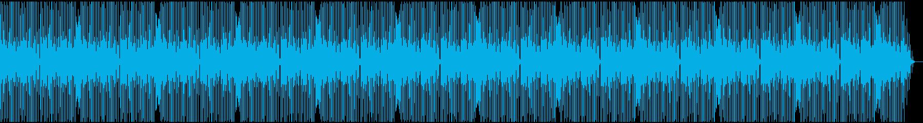 軽快で単純なテクノサウンドの再生済みの波形