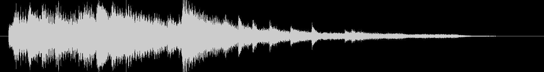 【ジングル】きれい系ピアノジングルの未再生の波形