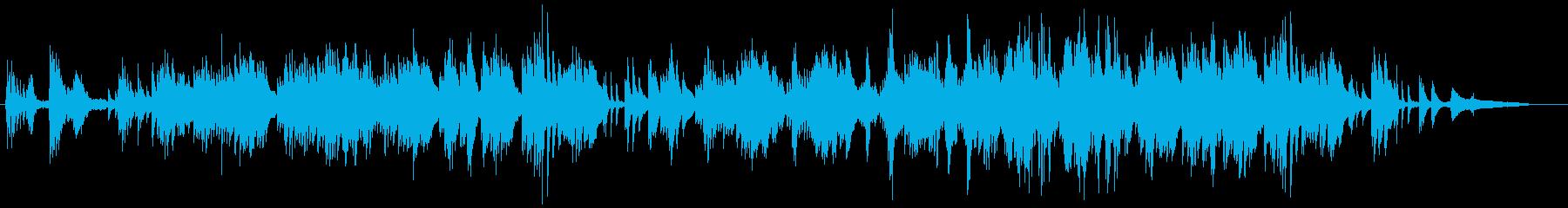 和風のゆったりしたピアノソロの再生済みの波形
