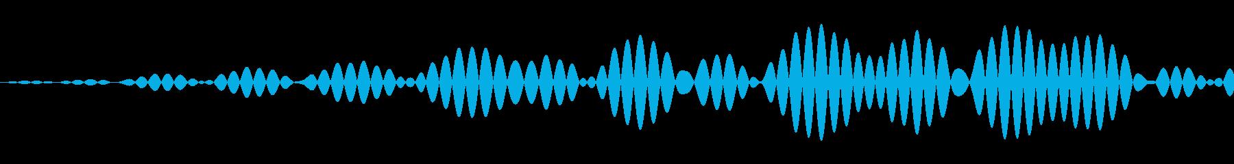 シンプルなキャンセル音2の再生済みの波形