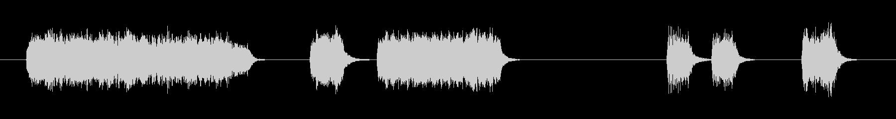 ドアブザー3;電気ブザー; 1つの...の未再生の波形