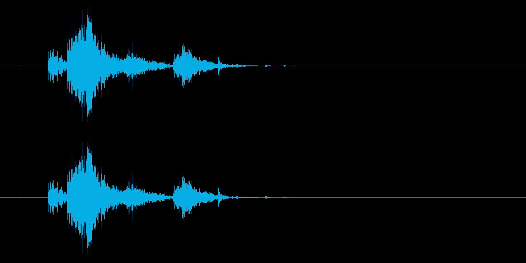 カシャン(剣を落とした音)の再生済みの波形