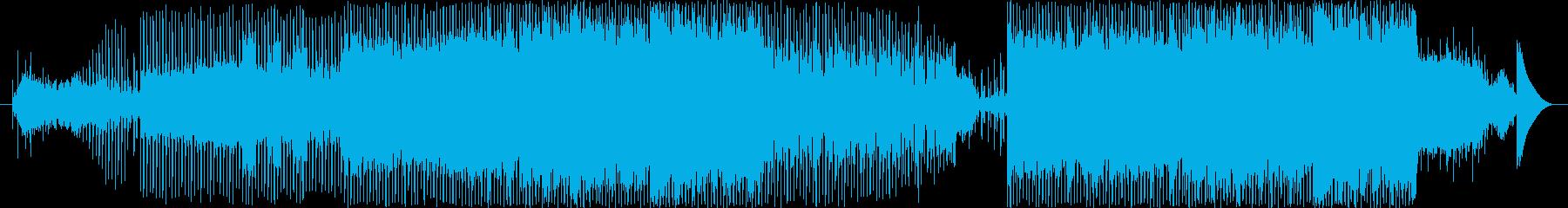 楽しげな雰囲気の近未来テクノポップの再生済みの波形