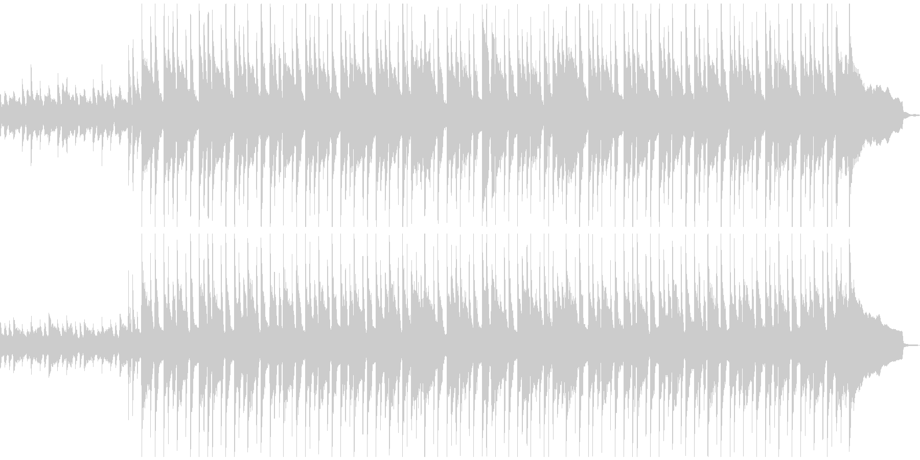 穏やかでのほほんとしたBGMの未再生の波形