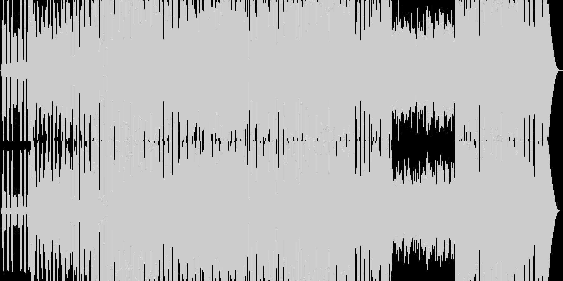 アップテンポのディスコの未再生の波形
