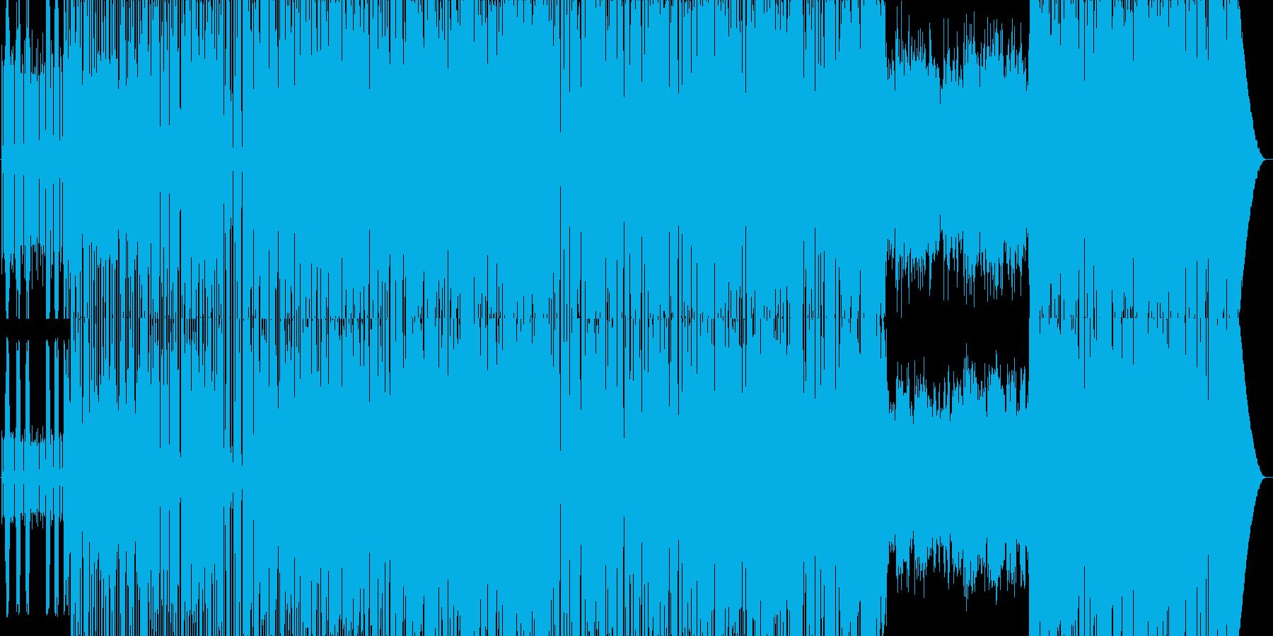 アップテンポのディスコの再生済みの波形