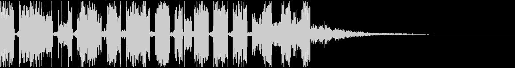 電子的なサウンドロゴの未再生の波形
