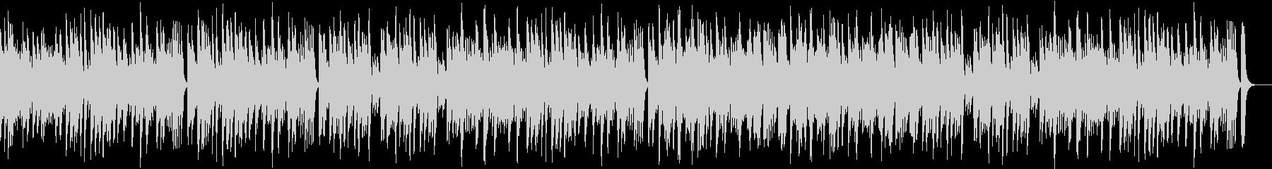 軽快なピアノ・ボサノバの未再生の波形