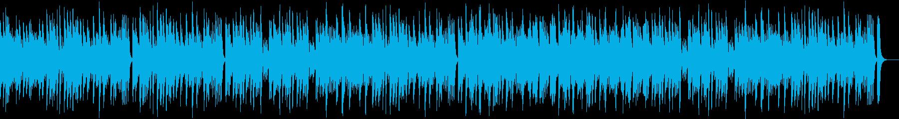 軽快なピアノ・ボサノバの再生済みの波形