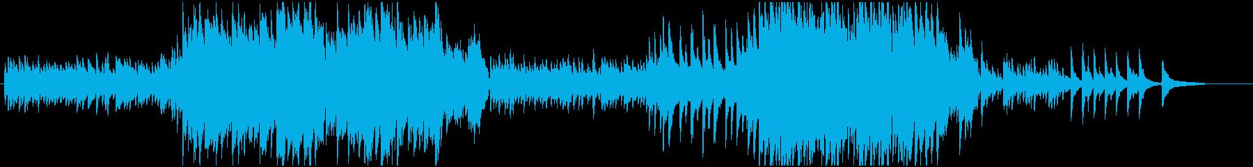 いい感じのピアノ曲の再生済みの波形