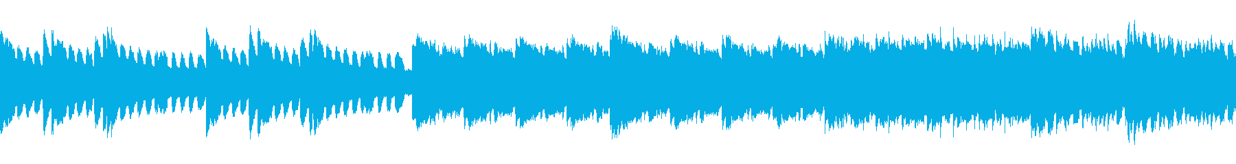 3拍子の激しい戦闘用チップチューンの再生済みの波形