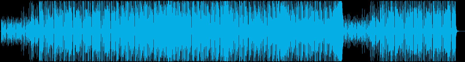明るく派手なギターロック・ブルースの再生済みの波形