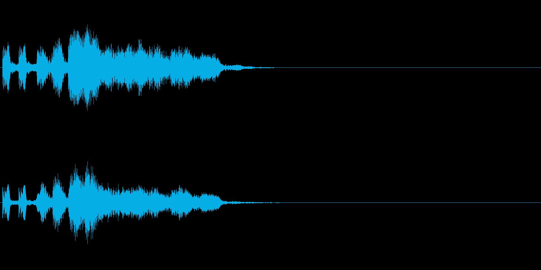 怪しげな雰囲気・気配がした時の効果音の再生済みの波形