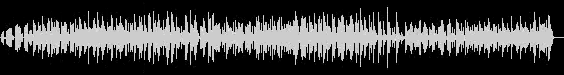 和風のピアノ曲の未再生の波形