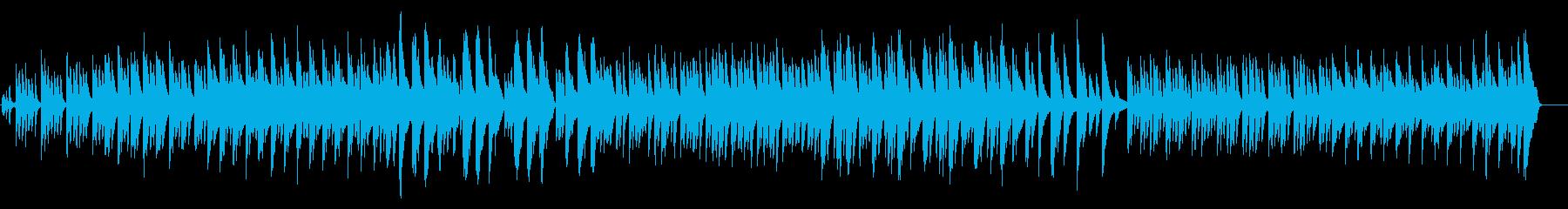 和風のピアノ曲の再生済みの波形