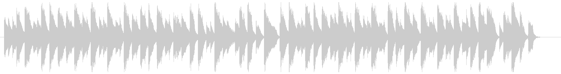 スローな古いジャズピアノ(ブルース寄り)の未再生の波形