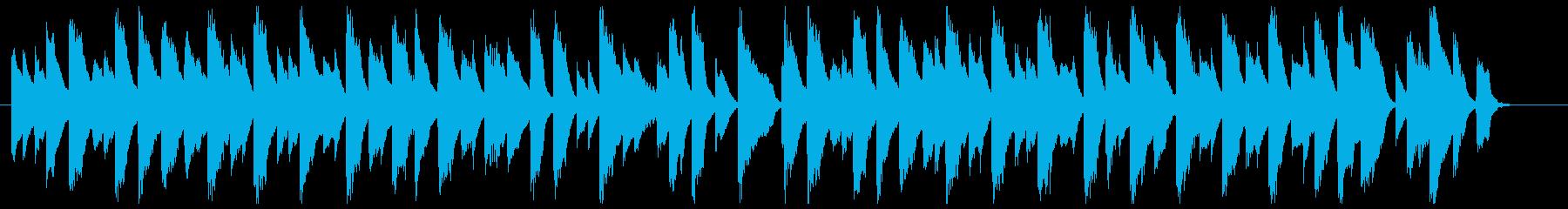 スローな古いジャズピアノ(ブルース寄り)の再生済みの波形