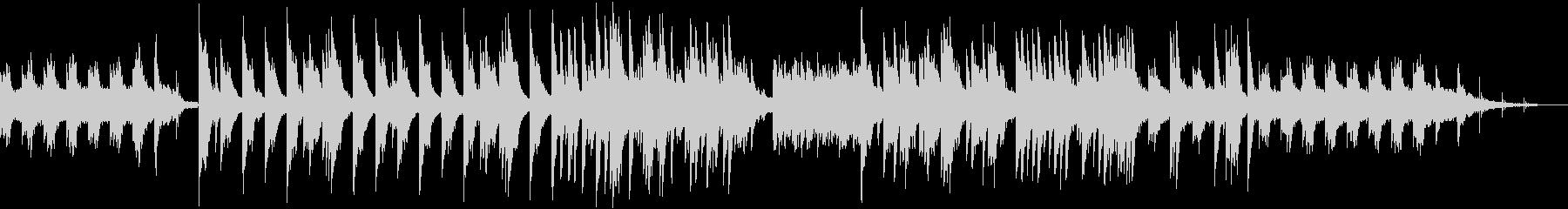 シンセサイザーのサウンドが切ないBGMの未再生の波形