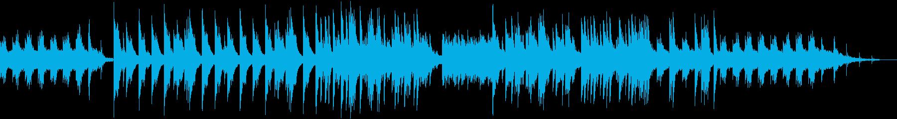 シンセサイザーのサウンドが切ないBGMの再生済みの波形