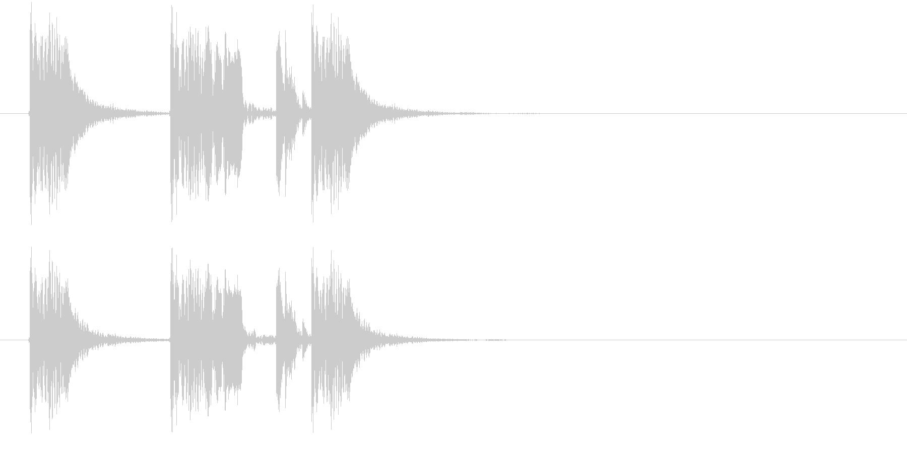 躍動感あるダークなビートジングルの未再生の波形