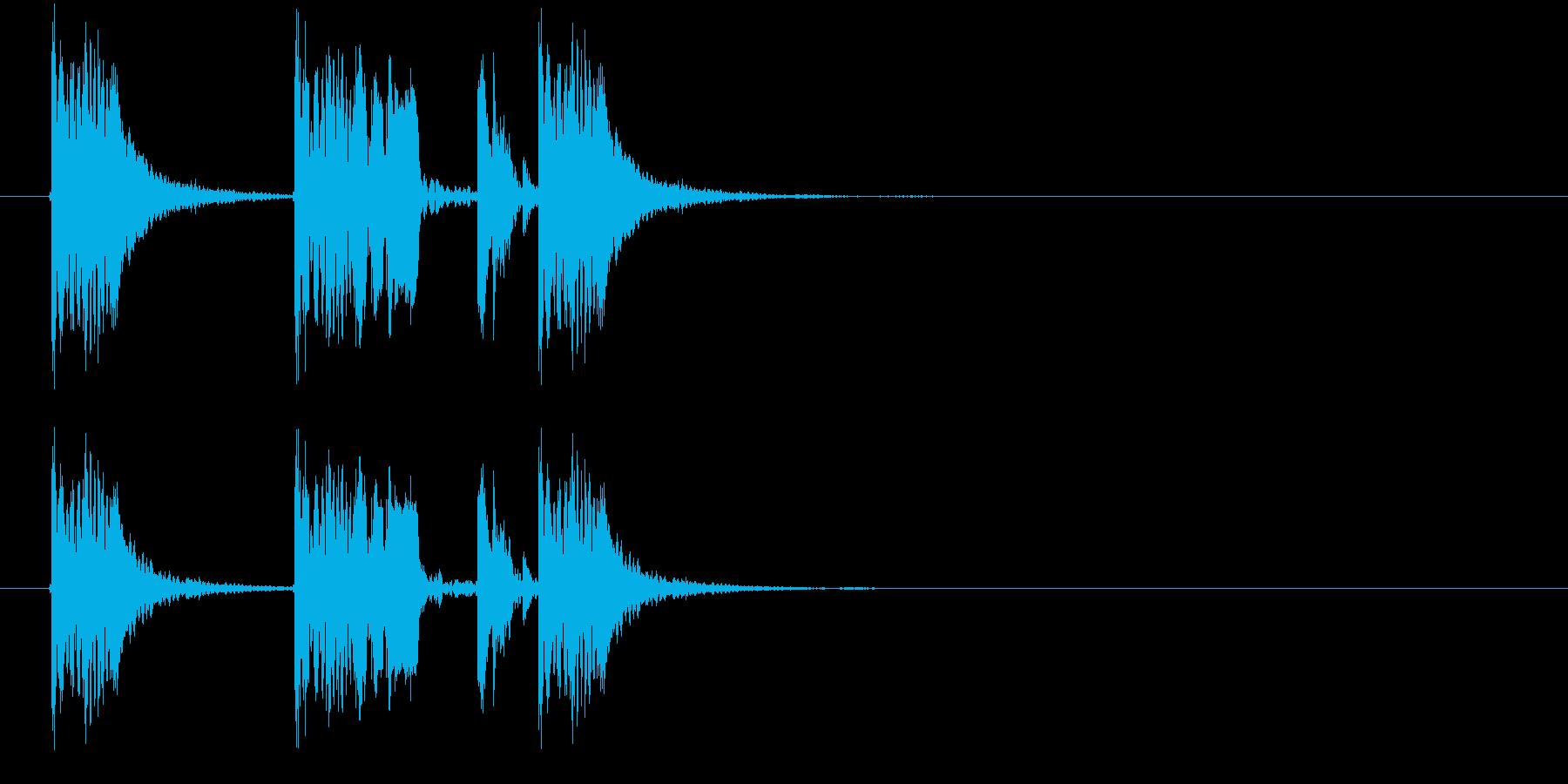 躍動感あるダークなビートジングルの再生済みの波形