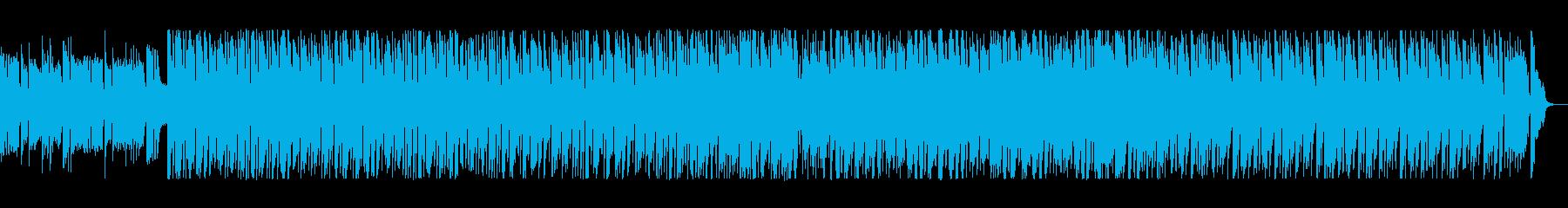 シンセのコミカルな旋律が印象的なポップスの再生済みの波形