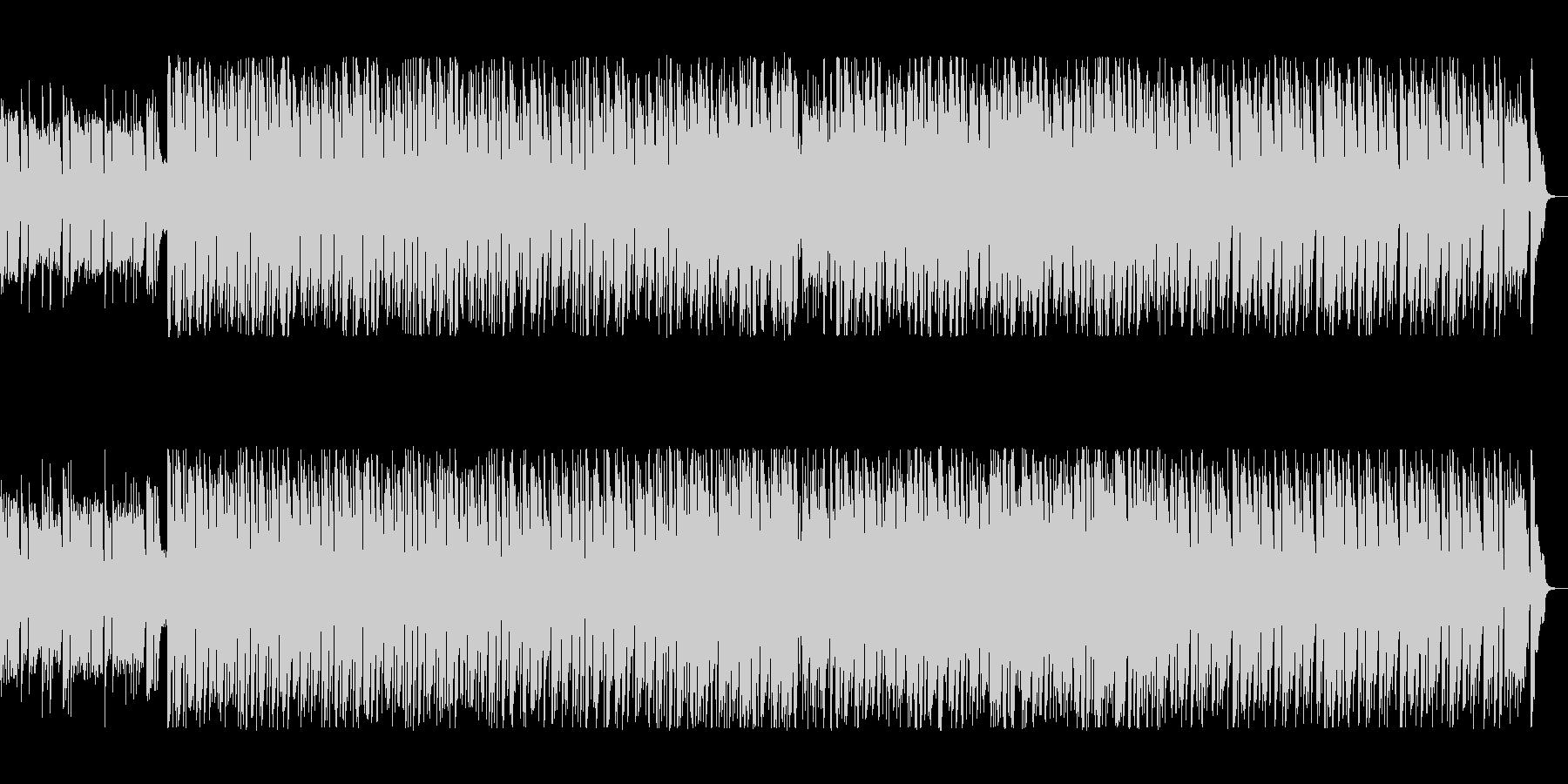 シンセのコミカルな旋律が印象的なポップスの未再生の波形