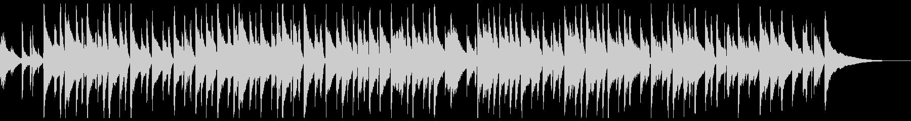 柔らかなピアノ旋律のバラードの未再生の波形