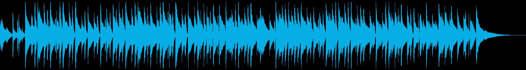 柔らかなピアノ旋律のバラードの再生済みの波形