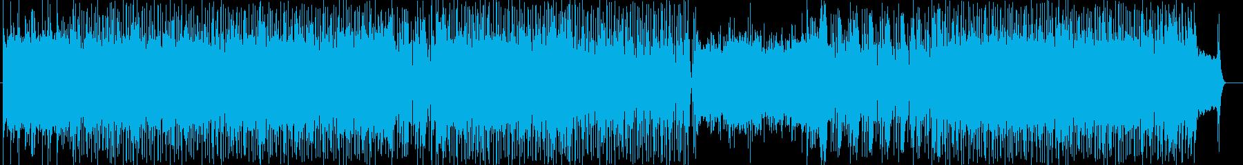 スポーツゲームに特化したアップテンポな曲の再生済みの波形