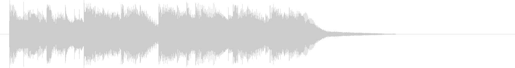 メロディアスなピコピコ音の未再生の波形