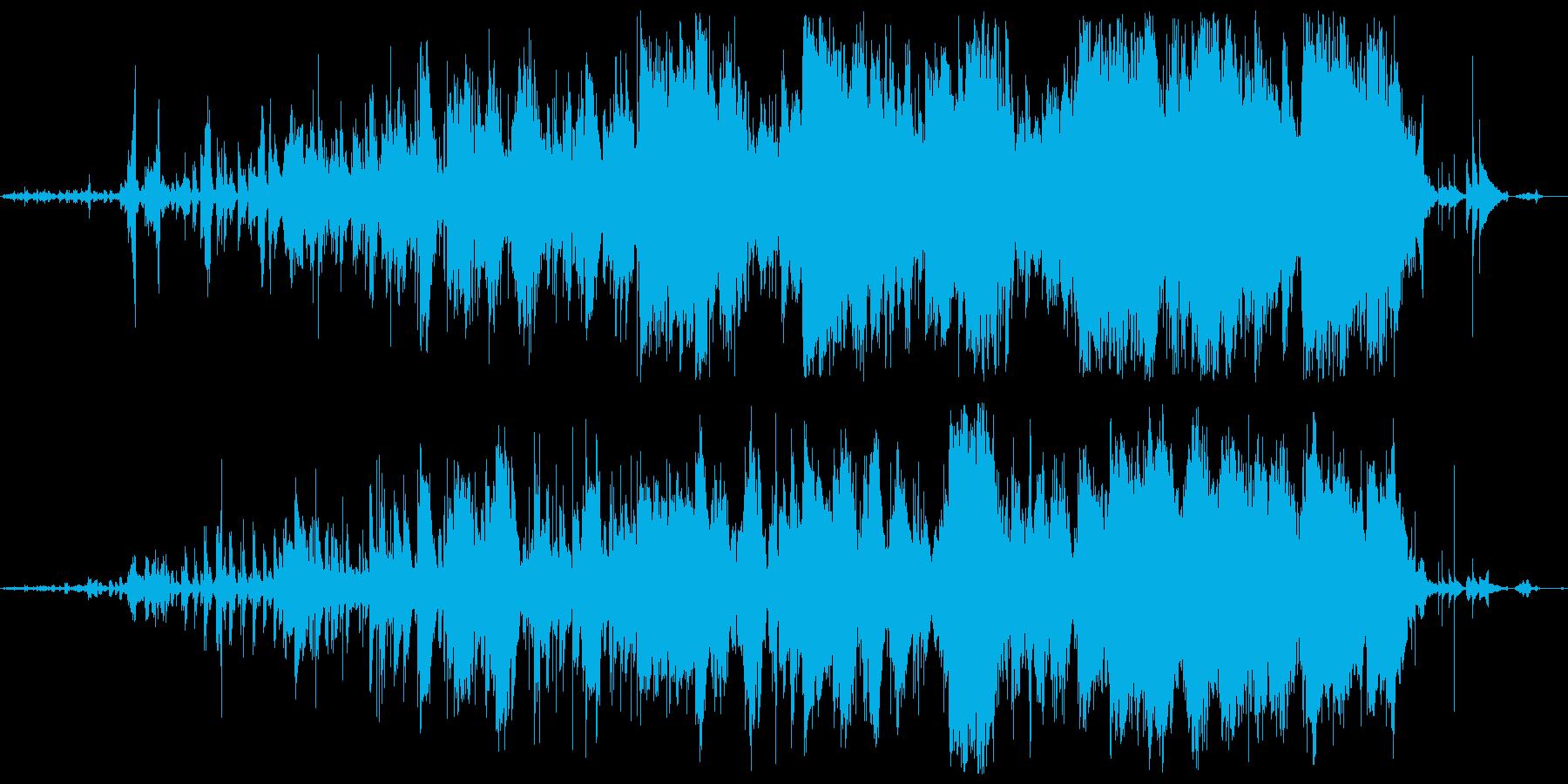 ふわふわした夢の中のような幻想的な楽曲の再生済みの波形