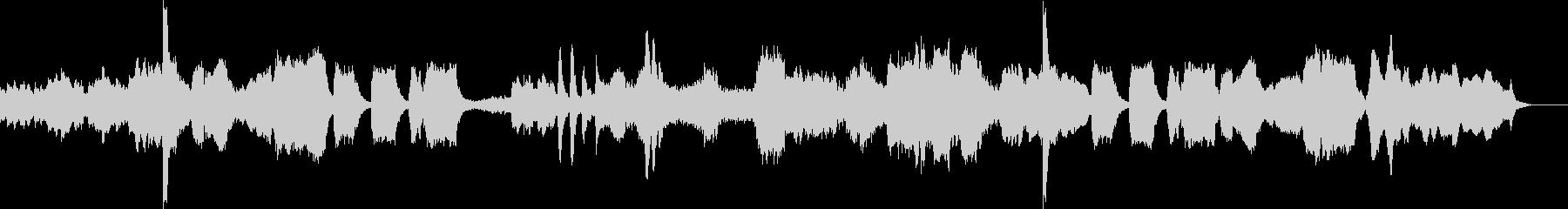 怪しいホラーテイストなクラシックの未再生の波形