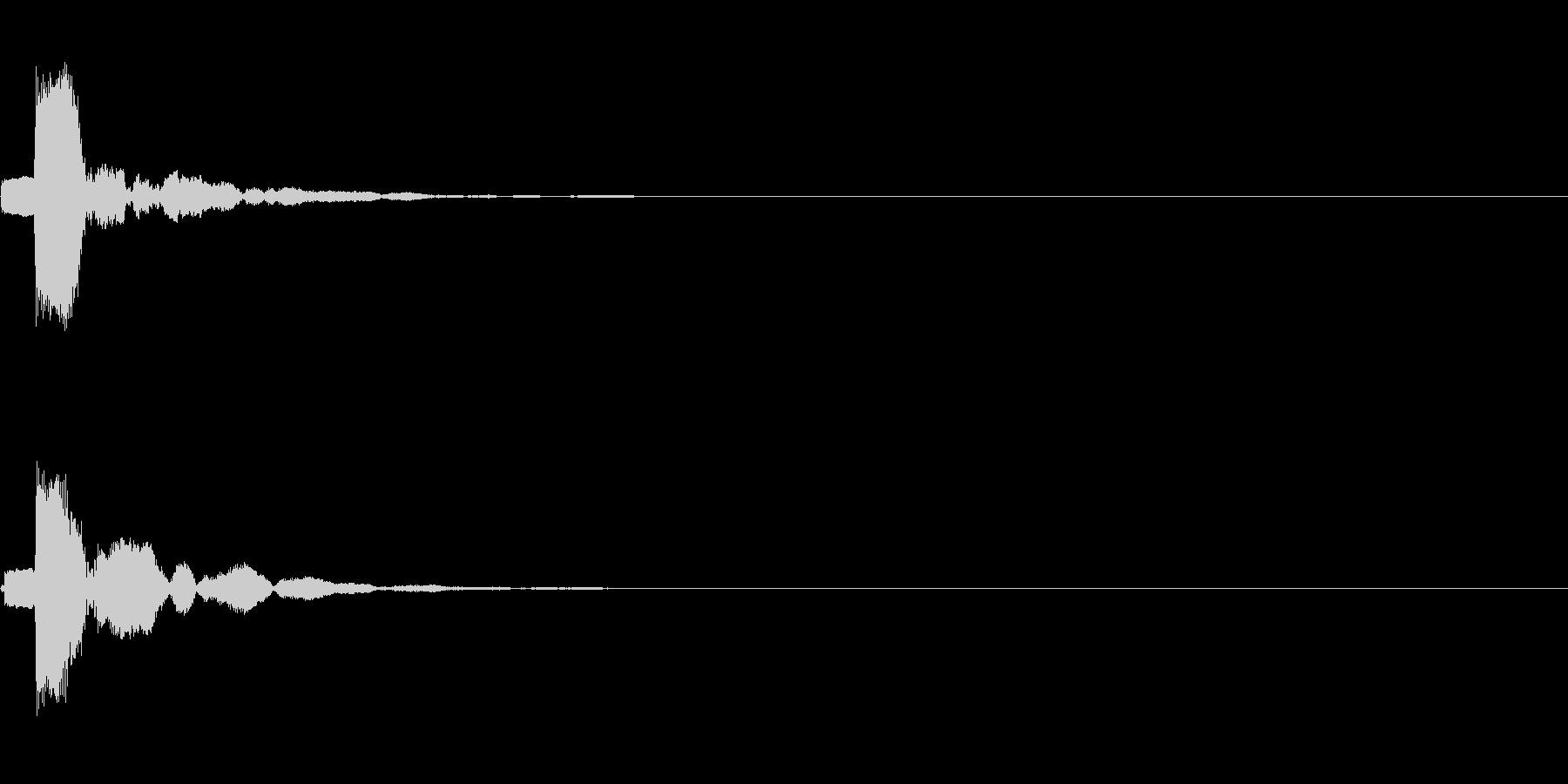 ポコン(選択、決定音)の未再生の波形