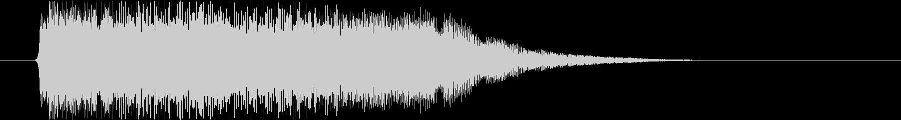 疾走感のあるパンクサウンドジングルの未再生の波形