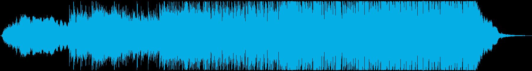戦闘イメージのEDMの再生済みの波形