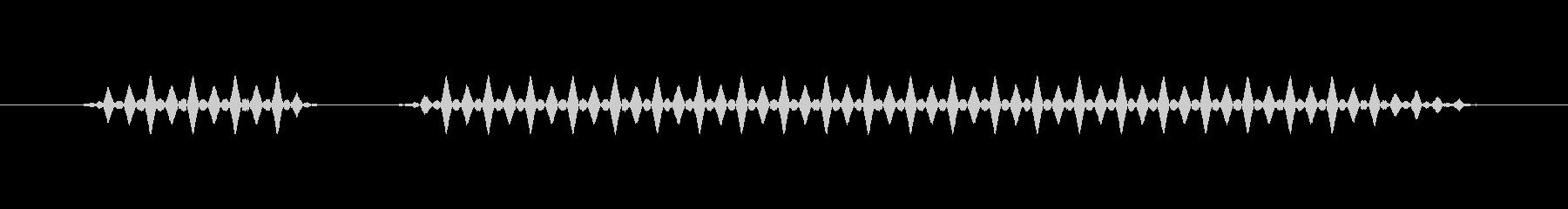ブブー(低)【不正解、エラー】の未再生の波形