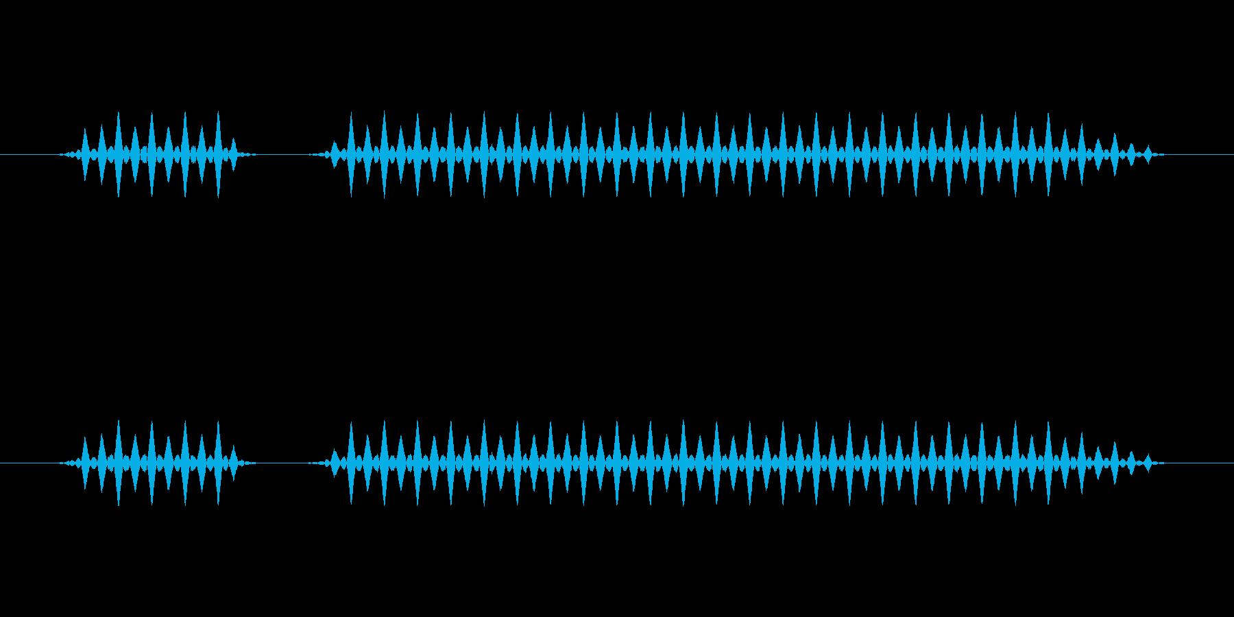 ブブー(低)【不正解、エラー】の再生済みの波形