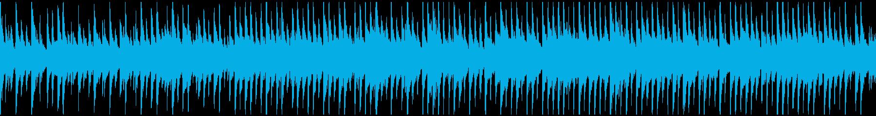 しっとり系のウクレレ曲 ※ループ仕様版の再生済みの波形
