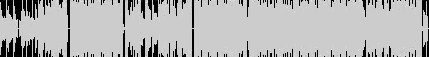 荒ぶれた雰囲気のパンク系テクノポップの未再生の波形