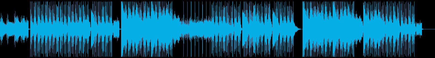憂鬱で悲しい雰囲気のヒップホップBGMの再生済みの波形